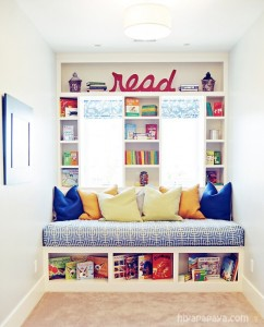 Reading nook. Facilitating a wonderful experience for literacy and reading.