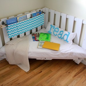 Book nook, I did orginally plan to raise the cushions a bit...